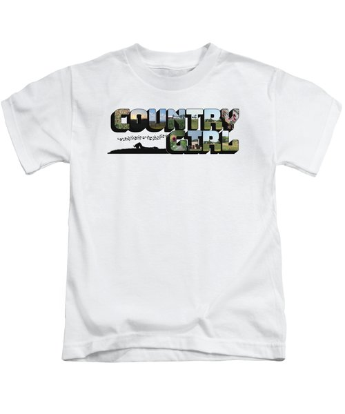 Country Girl Big Letter Kids T-Shirt