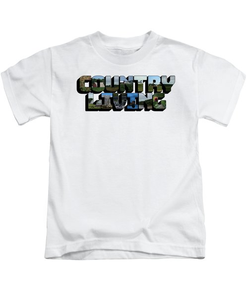 Country Living Big Letter Kids T-Shirt