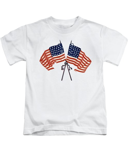 Crossed Civil War Union Flags 1861 - T-shirt Kids T-Shirt