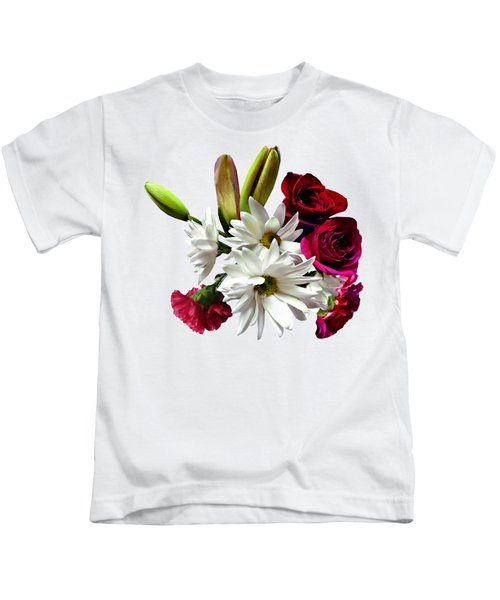 Daisies, Roses And Carnations Kids T-Shirt
