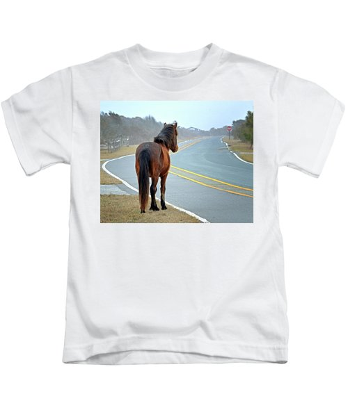 Delegats's Pride Looking For Visitors To Assateague Island Kids T-Shirt