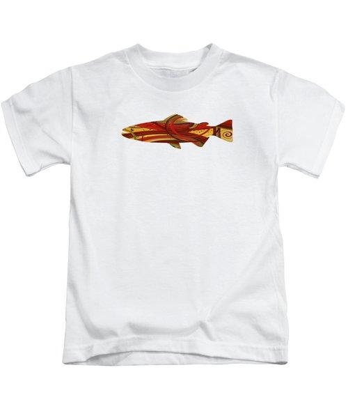 Mystic Trout- Crimson Kids T-Shirt