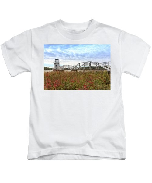 Doubling Point Lighthouse In Maine Kids T-Shirt