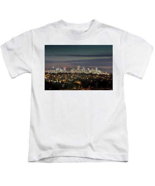 Downtown Dusk Kids T-Shirt
