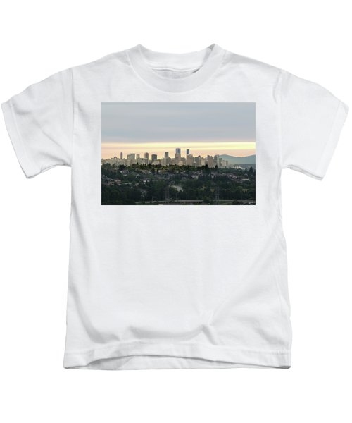 Downtown Sunset Kids T-Shirt