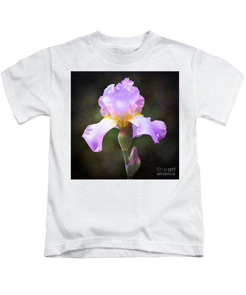 Dramatic Purple Iris Kids T-Shirt