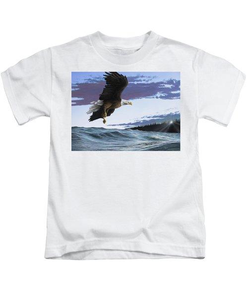 Eagle In Flight Kids T-Shirt