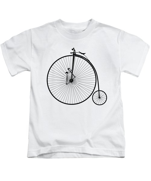 Early Velocipede Bicycle - Version 2 - T-shirt Kids T-Shirt