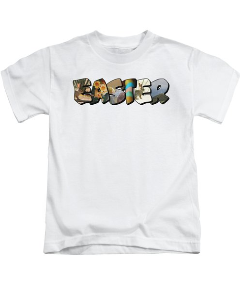 Easter Big Letter Kids T-Shirt