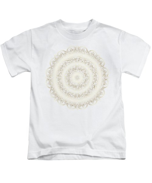 Elegant Golden Mandala Buddhist Symbol Kids T-Shirt