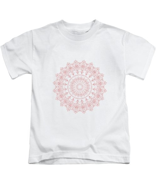 Elegant Rose Gold Mandala Burgundy Purple Kids T-Shirt
