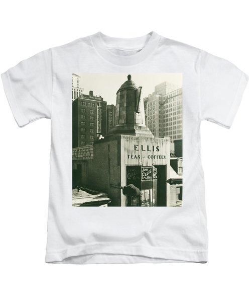 Ellis Tea And Coffee Store, 1945 Kids T-Shirt