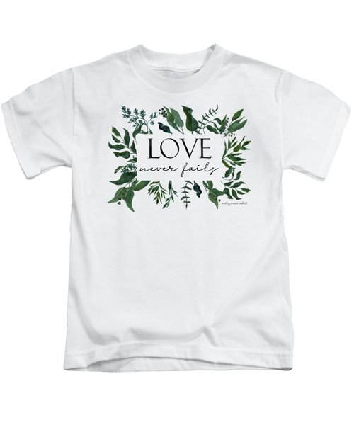 Emerald Wild Forest Foliage 2 Watercolor Kids T-Shirt