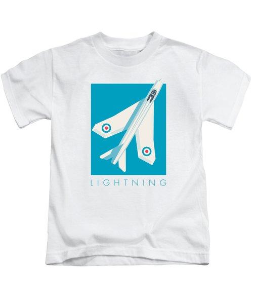 English Electric Lightning Fighter Jet Aircraft - Blue Kids T-Shirt