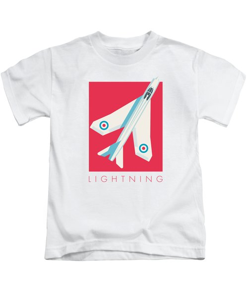 English Electric Lightning Fighter Jet Aircraft - Crimson Kids T-Shirt