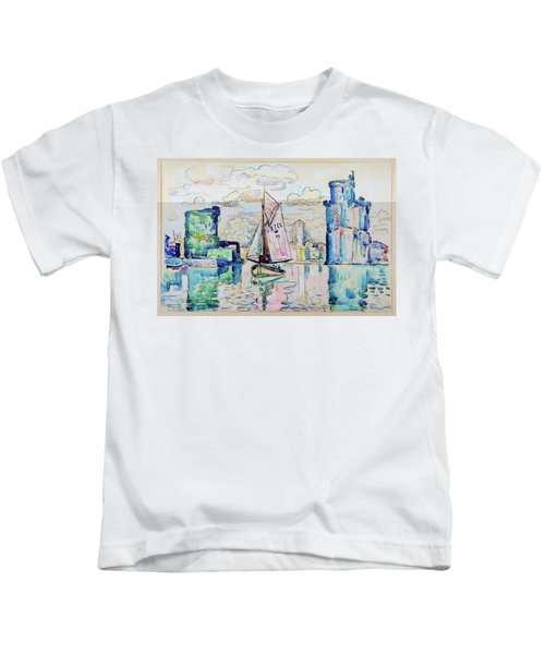 Entrance To The Harbor Of La Rochelle - Digital Remastered Edition Kids T-Shirt