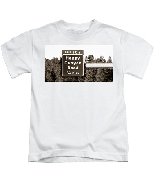 Exit For Happy Canyon Road Kids T-Shirt
