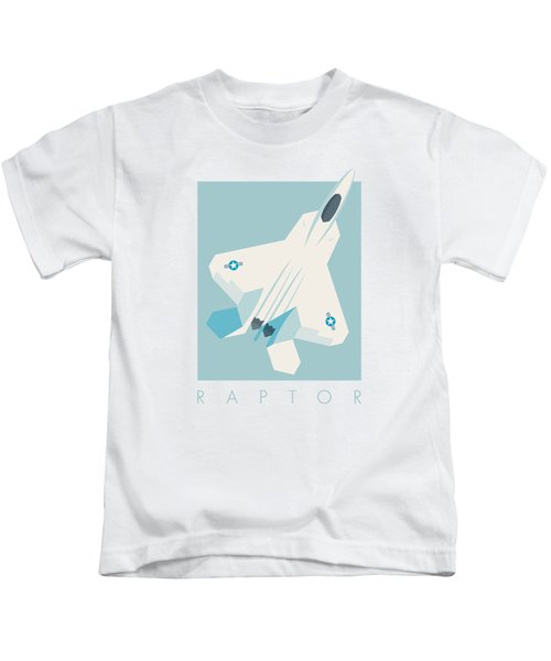 F22 Raptor Jet Fighter Aircraft - Sky Kids T-Shirt