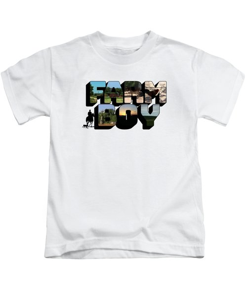 Farm Boy Big Letter Kids T-Shirt