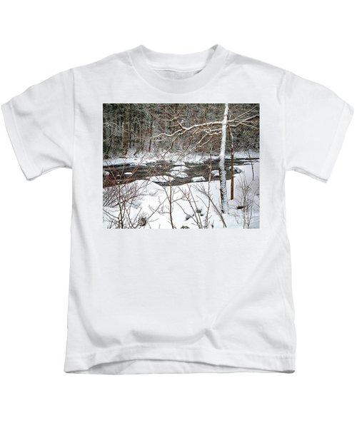 Farmington River - Northern Section Kids T-Shirt