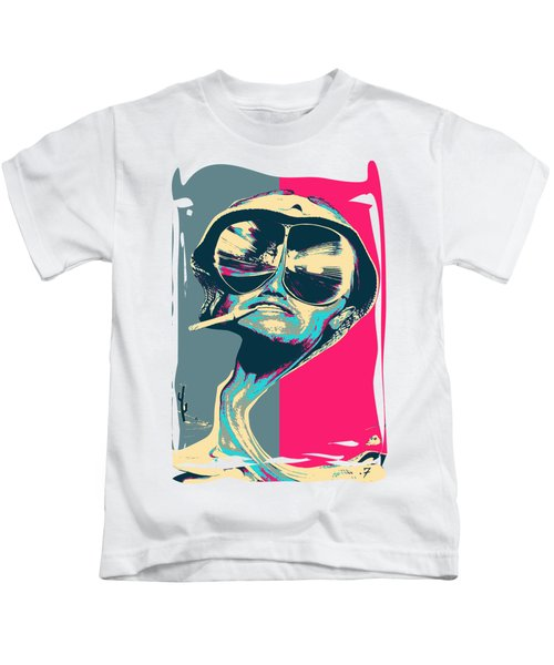 Fear And Loathing In Las Vegas Revisited - Psychedelic Raoul Duke Kids T-Shirt