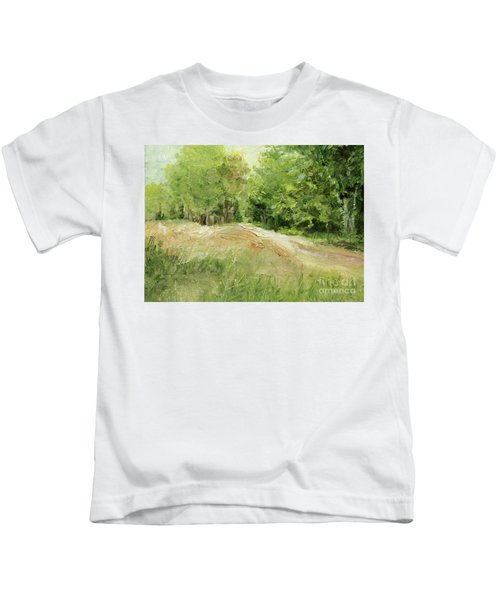 Woodland Trees And Dirt Road Kids T-Shirt