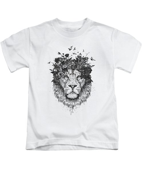 Floral Lion Kids T-Shirt