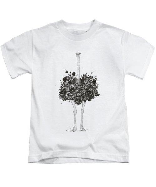 Floral Ostrich Kids T-Shirt
