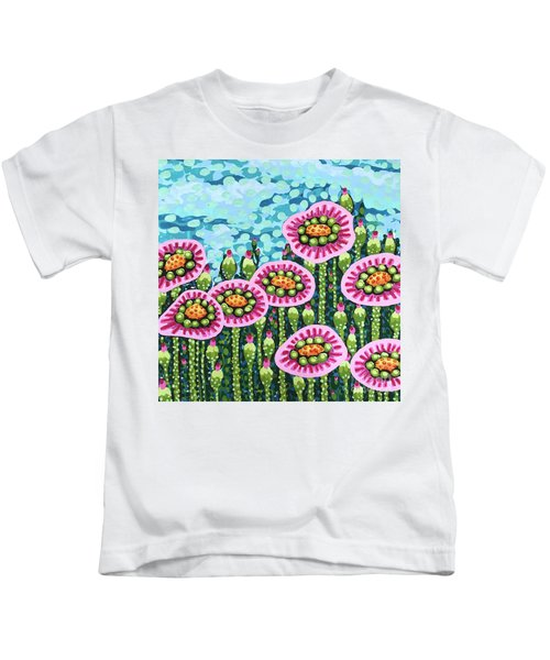 Floral Whimsy 8 Kids T-Shirt