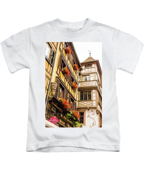 Flower Boxes Strasbourg Kids T-Shirt