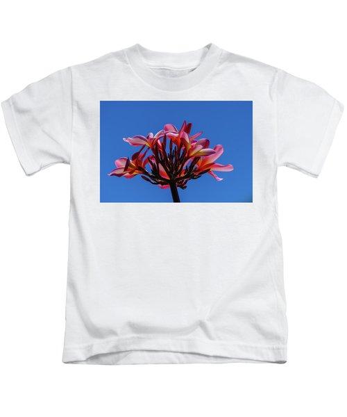 Flowers In Clear Blue Sky Kids T-Shirt