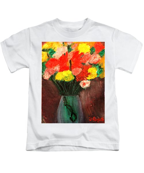 Flowers Still Life Kids T-Shirt