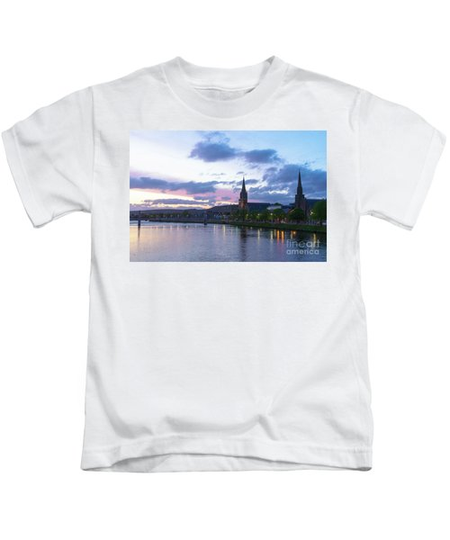 Flowing Down The River Ness Kids T-Shirt