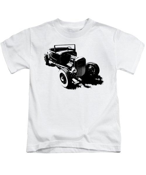 Ford Flathead Roadster Two Blk Kids T-Shirt