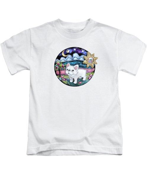 French Bull Dog Puppy Jewelry Art Kids T-Shirt