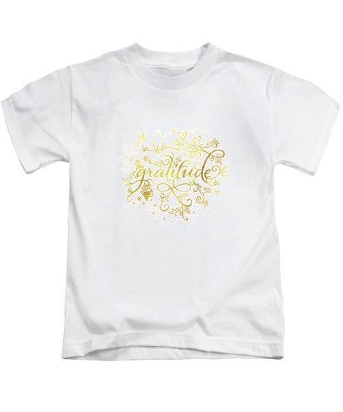 Golden Gratitude Kids T-Shirt