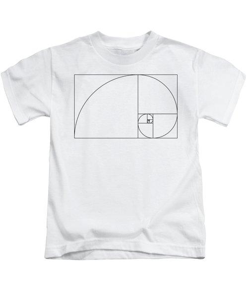 Golden Spiral Kids T-Shirt