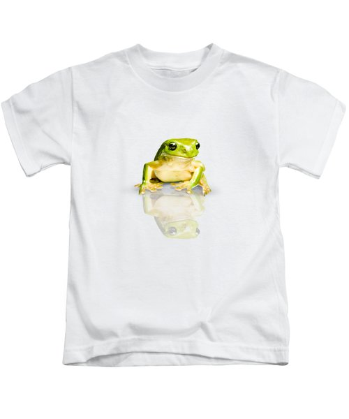 Green Tree Frog Kids T-Shirt