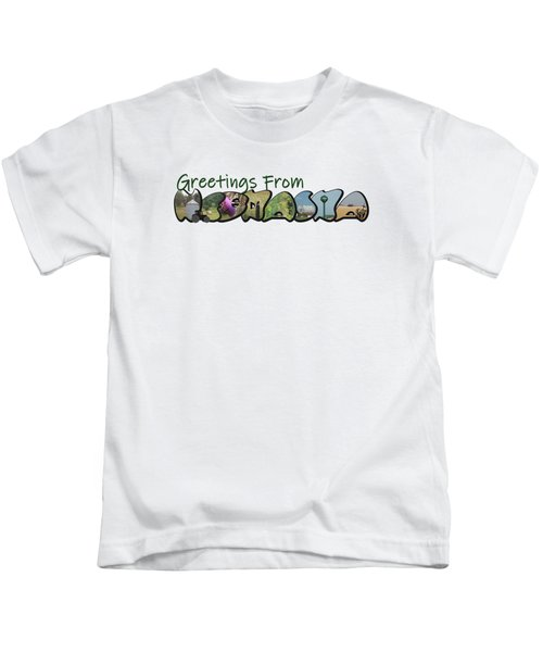 Greetings From Nebraska Big Letter Kids T-Shirt