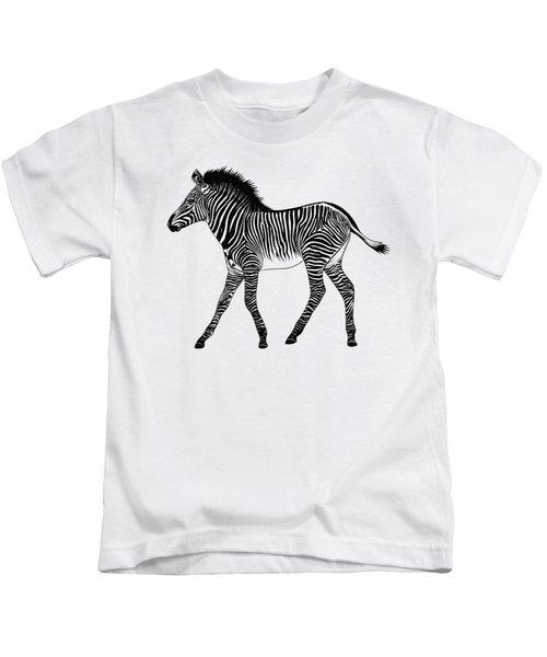 Grevy's Zebra Foal Kids T-Shirt