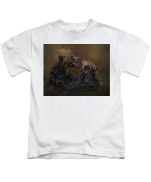 Grizzlies At Play Kids T-Shirt