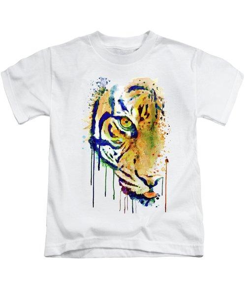 Half Faced Tiger Kids T-Shirt