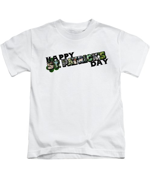 Happy St. Patrick's Day Big Letter Kids T-Shirt
