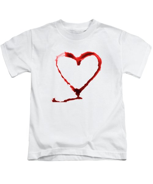 Heart Shape From Splaches And Blobs Kids T-Shirt