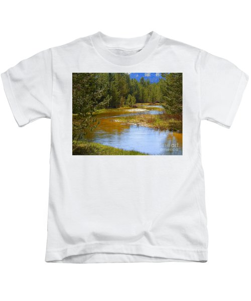 Heavenly Flowing Through The Valley Clear Creek Kids T-Shirt