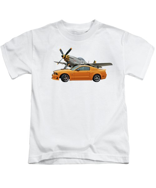 High Flyers - Mustang And P51 Kids T-Shirt