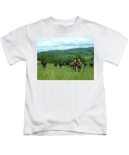 Horse And Cow Kids T-Shirt