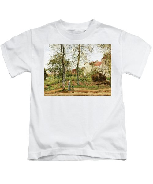 Houses At Bougival, Autumn - Digital Remastered Edition Kids T-Shirt