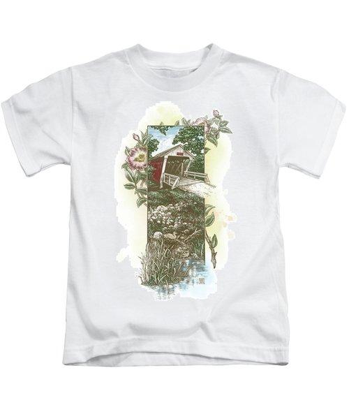 Iowa Covered Bridge Kids T-Shirt