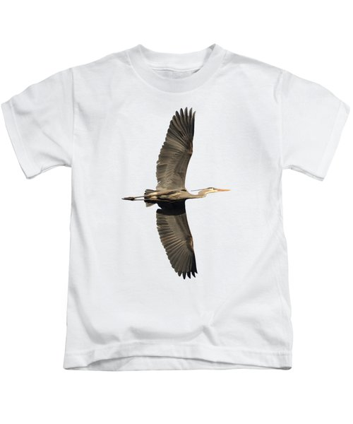 Isolated Great Blue Heron 2018-1 Kids T-Shirt